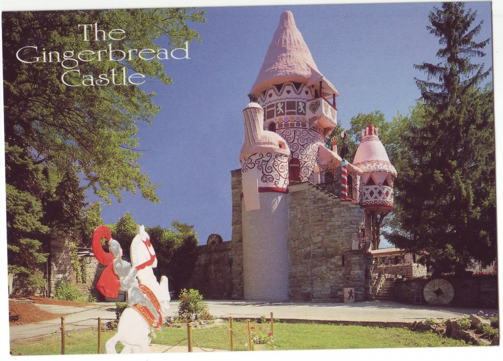Postcard of Castle showing Prince Charming